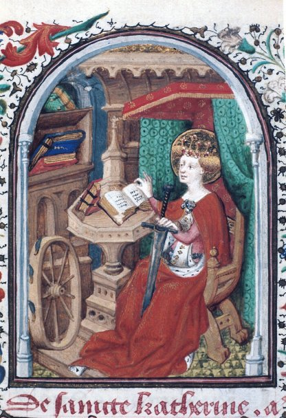 Figure 1: St. Catherine with her wheel